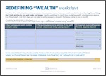 Download Redefining Wealth Worksheet