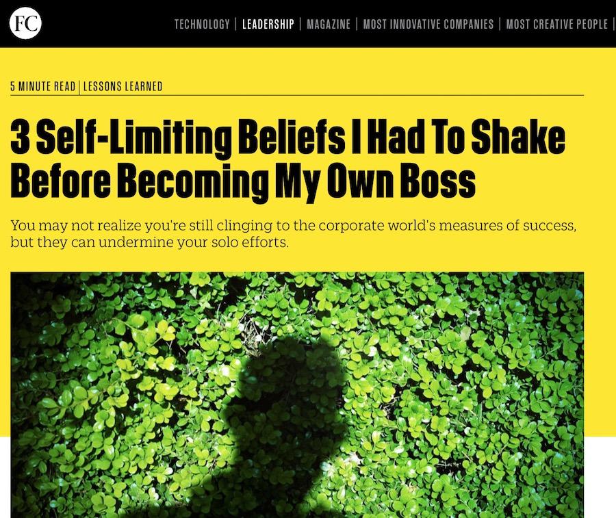 3 Beliefs Fast Company