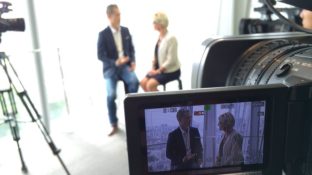 Joseph Liu interviewed at The Shard in London to discuss personal branding