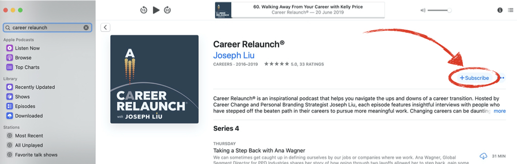 Career Relaunch subscribe