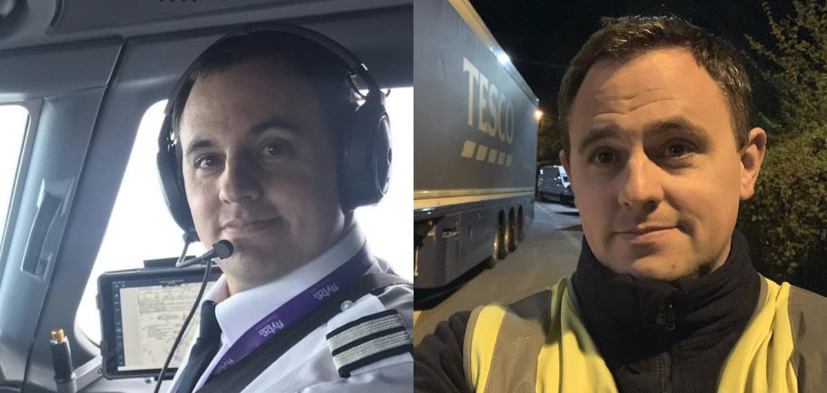 Aaron Leventhal- former FlyBe pilot turned Tesco truck driver