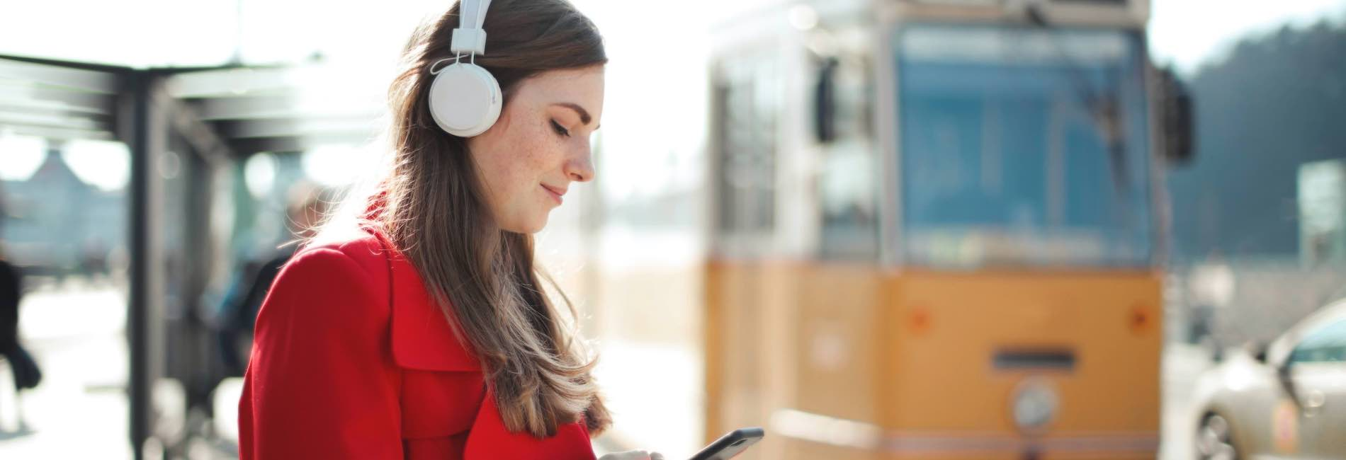 Professional woman with headphones